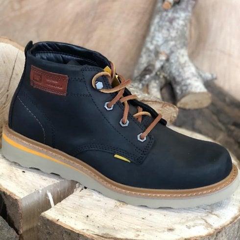 Caterpillar Mens Jackson Mid Black Lace Up Boots