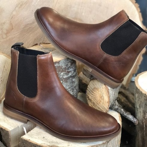 Lloyd & Pryce - Tommy Bowe Lloyd & Pryce Mens Booth Russet Chelsea Boots