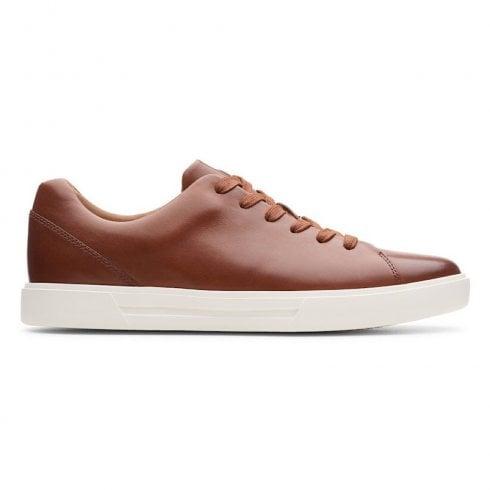 Clarks Mens Un Costa Lace British Tan Leather Shoes (G WIDTH)