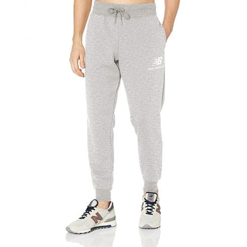 New Balance New Balance Mens Grey Essentials Stacked Logo Sweatpants
