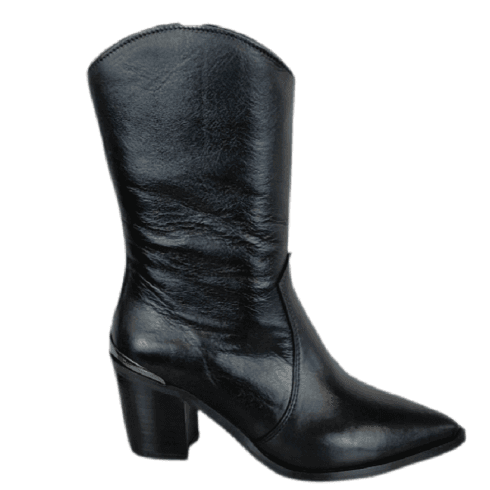 Alpe Ladies Black Mid-Calf Length Boot