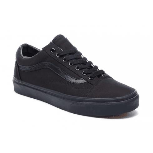 Vans Mens Old Skool Black Lace-Up Trainers