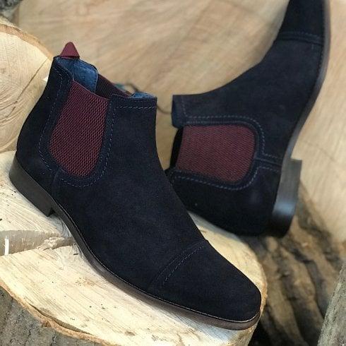 Escape Shoes Escape Mens Ewing Classic Navy Chelsea Boots
