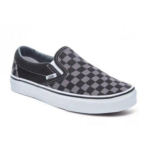 Vans Classic Slip On Black & Pewter Checkerboard Sneakers