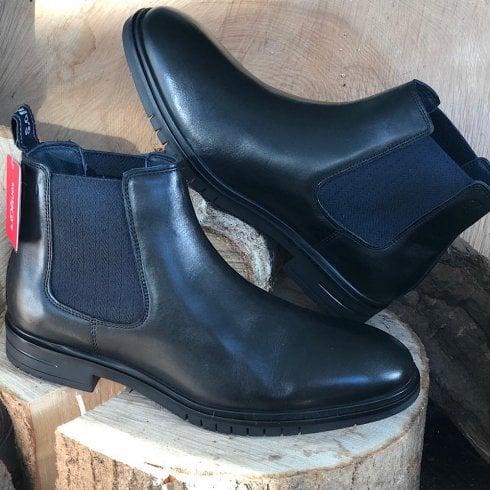 S Oliver S.Oliver Men's Black Slip On Chelsea Boots