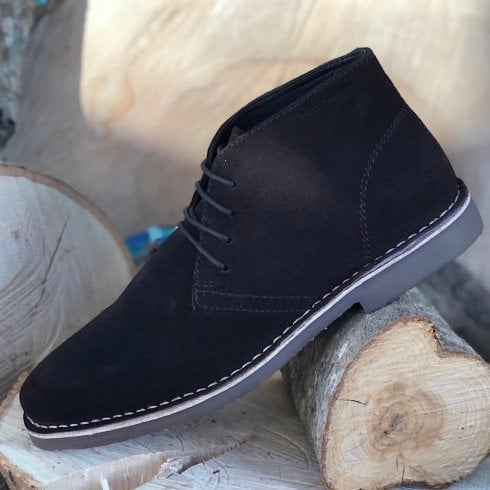 Hush Puppies Freddie Brown Lace Up Boots
