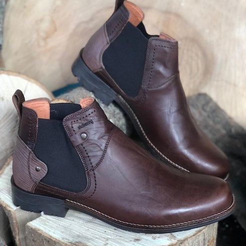 Dubarry Mens Smiths Mahogany Slip On Chelsea Boots