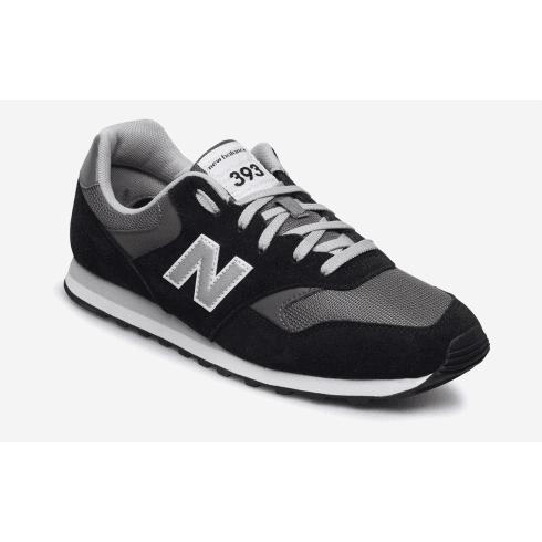 New Balance Mens 393 Black/Grey Trainers