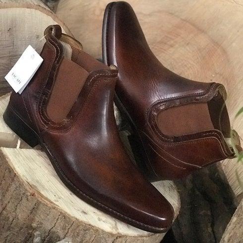 Escape Shoes Escape Mens Austin Slip On Roast Chestnut Chelsea Boot