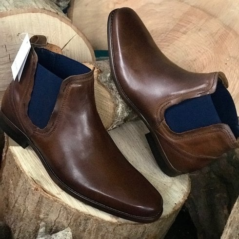Escape Shoes Escape Mens Austin Slip On Pop Oak Chelsea Boots