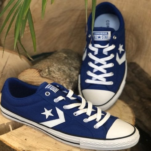 Converse Mens Blue Star Player Ox Lace-Up Trainers