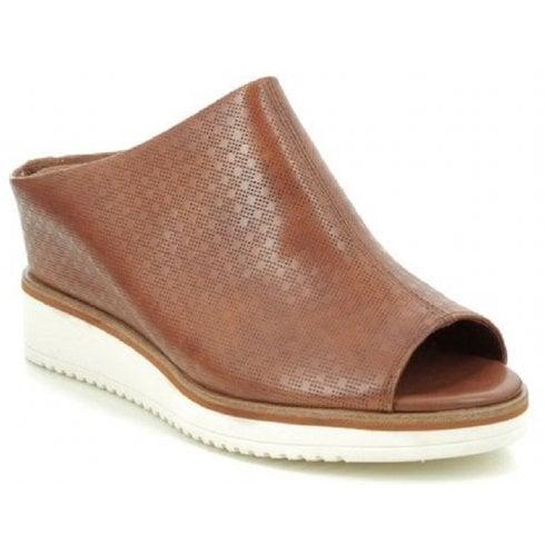 Tamaris Ladies Brown Wedged Open Toe Sandal