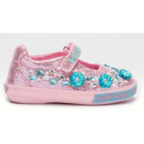 Lelli Kelly Florence Pink Velcro Strap Shoes