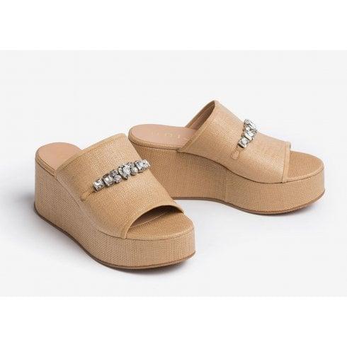 Unisa Laudio Crystal Embellished Wedge Sandal
