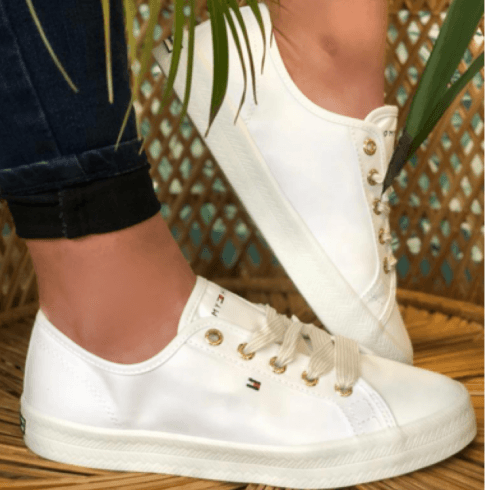 Tommy Hilfiger Ladies Nautical White Trainers