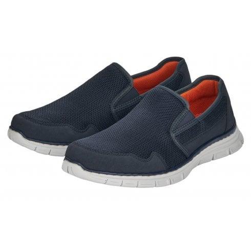 Rieker Mens Navy Slip-On Shoes