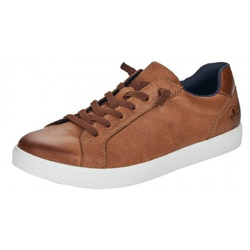 Rieker Mens Amaretto Brown Leather Trainers