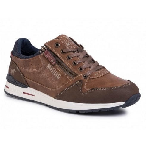 Mustang Mens Brown Lace Up Trainers