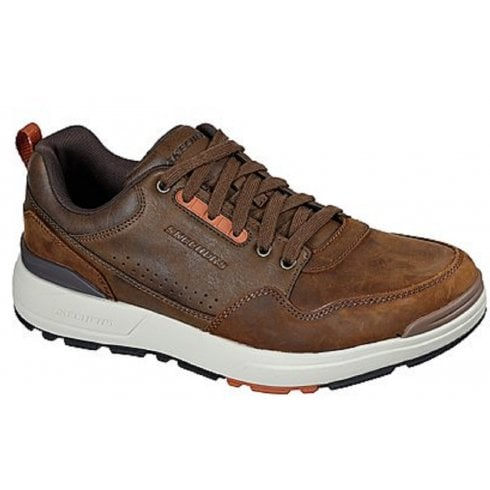 Skechers Mens Rozier Brown Leather Trainers