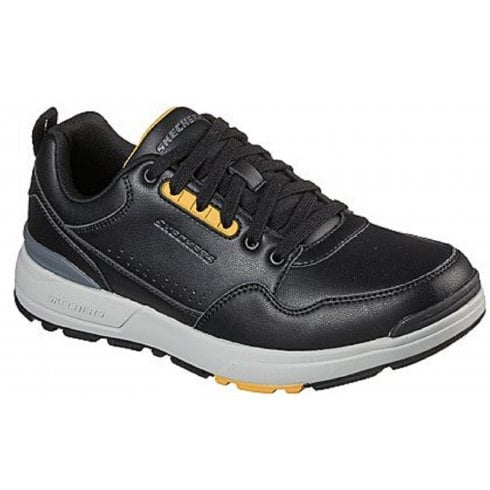 Skechers Mens Rozier Black Leather Trainers
