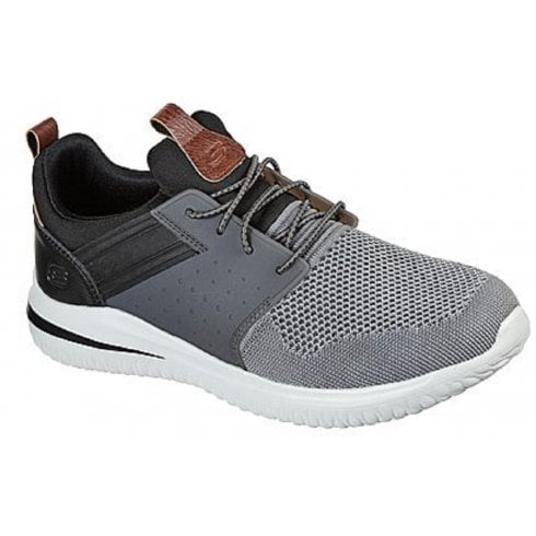 Skechers Mens Grey Delson 3.0 Cicada Trainers