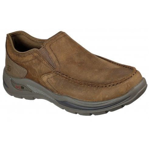 Skechers Mens Desert Brown Arch Fit Motley Hust Slip On Shoes