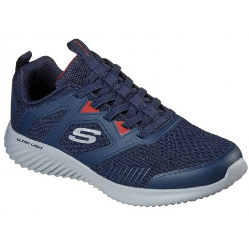 Skechers Mens Navy Bounder High Degree Trainers