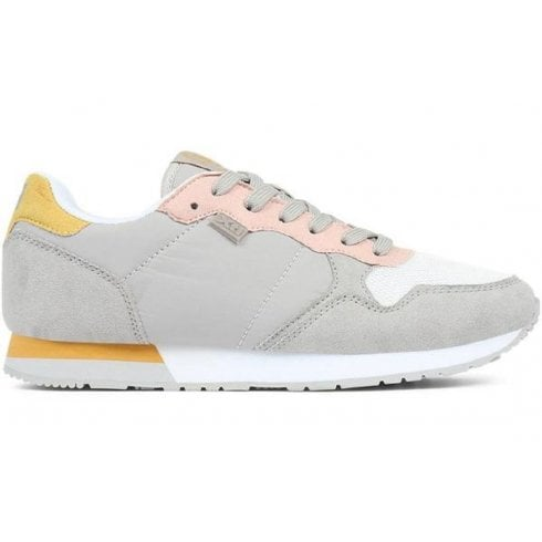 XTI Ladies Grey/Yellow/Pink Trainers