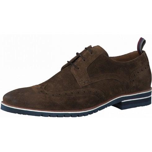 S Oliver S.Oliver Mens Suede Nut Brown Laced Smart Shoes