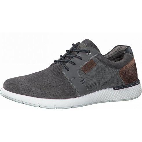 S Oliver Mens Grey Mesh SoLight Shoe