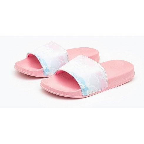 Hype Kids Pink Cloud Fade Sliders