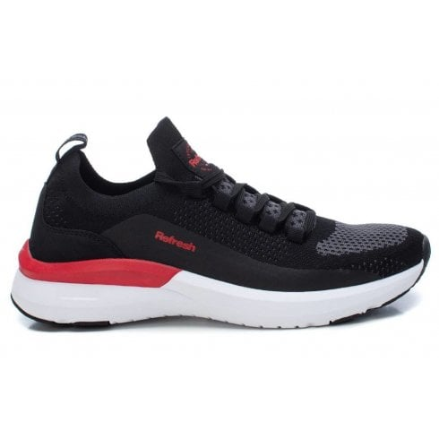 Refresh Mens Black & Red Trainers
