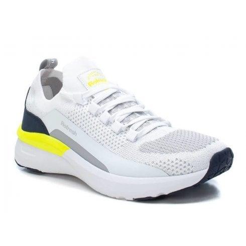 Refresh Mens White & Yellow Trainers