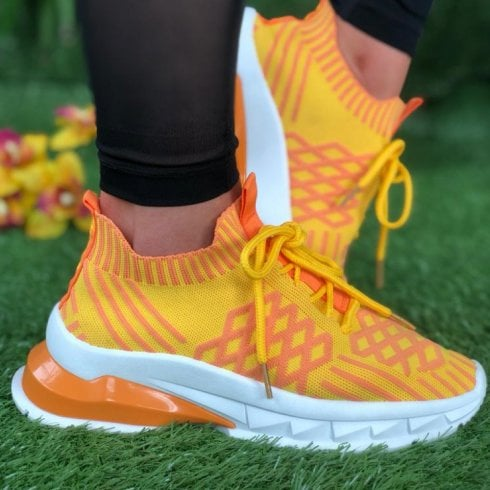 Drilleys Fly Tango Blast Soft Knit Chunky Trainers