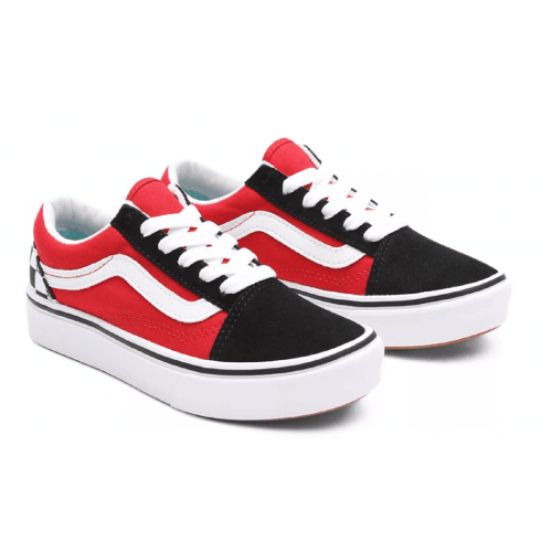 Vans Comfycush Checkerboard Black/Red Trainers