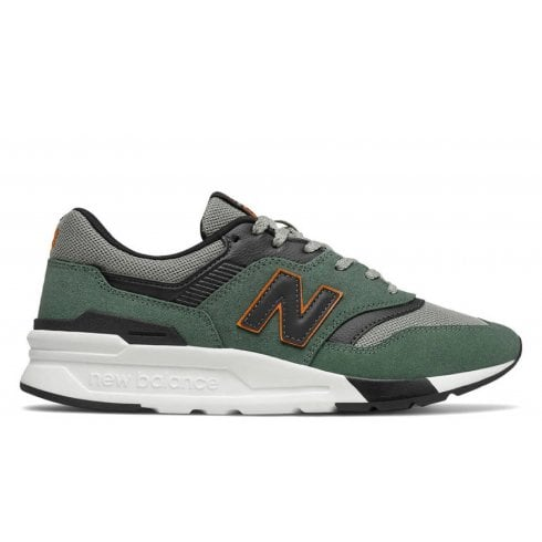 New Balance Mens 997 Lifestyle Sneakers - Green and Black