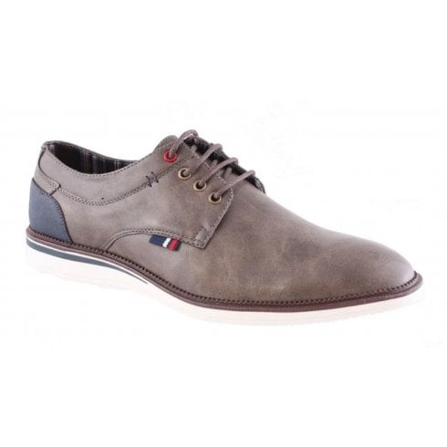 Morgan & Co Morgan and Co Mens Taupe Casual Lace Up Shoe