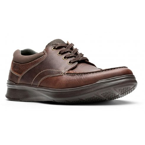 Clarks Mens Cotrell Edge Brown Oily Leather Lace up Shoes