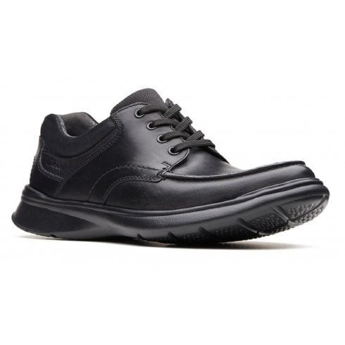 Clarks Mens Cotrell Edge Black Smooth Leather Lace up Shoes