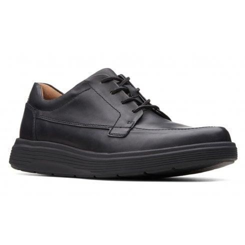 Clarks Un Abode Black Leather Mens Casual Shoes