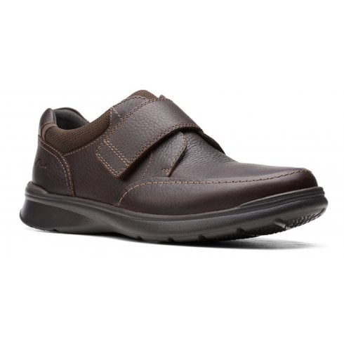 Clarks Mens Cotrell Strap Brown Tumbled Casual Shoes