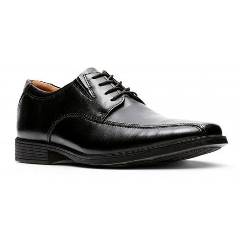 Clarks Mens Tilden Walk Black Leather Smart Lace Up Shoes