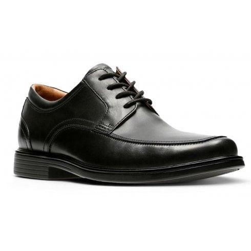 Clarks Mens Un Aldric Park Black Leather Smart Shoes