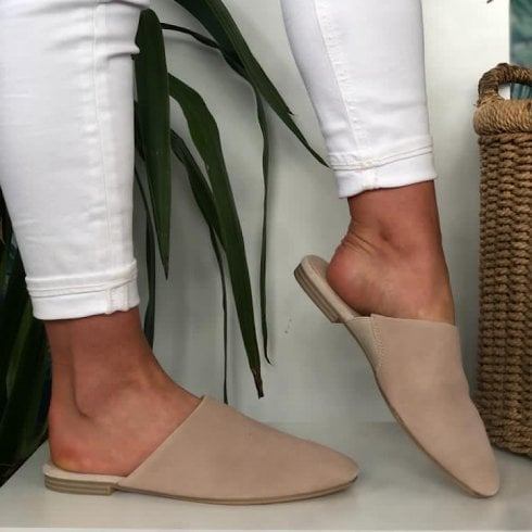 Tamaris Ladies Ivory Mule Sandals