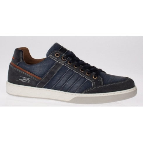 Lloyd & Pryce - Tommy Bowe Lloyd and Pryce Mens Scriven Navy Lace up Trainers