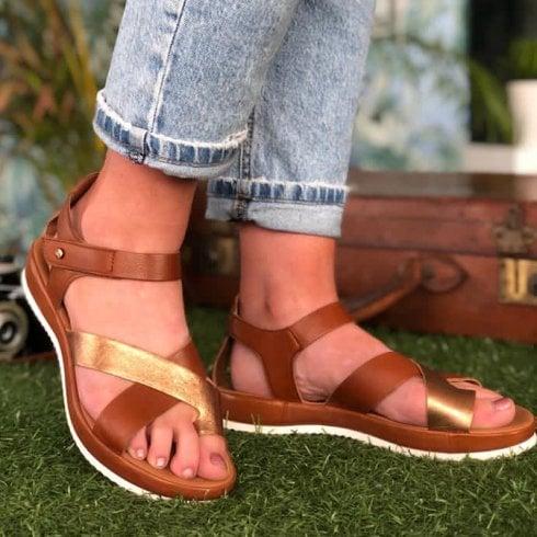 Ara Ladies Dubai Cognac Crossover Sandals