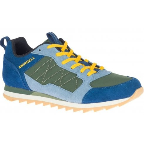 Merrell Mens Alpine Blue Green and Yellow Trainers