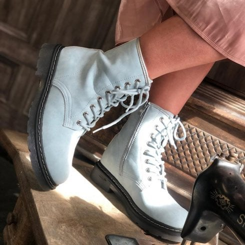 Drilleys Bumble Pale Blue Lace Up Boot