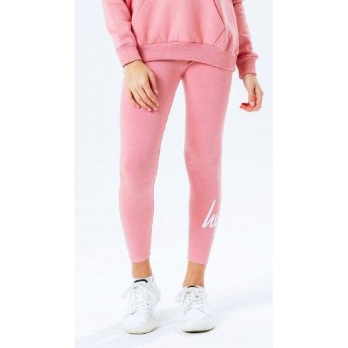 Hype Kids Girls Pink Script Leggings