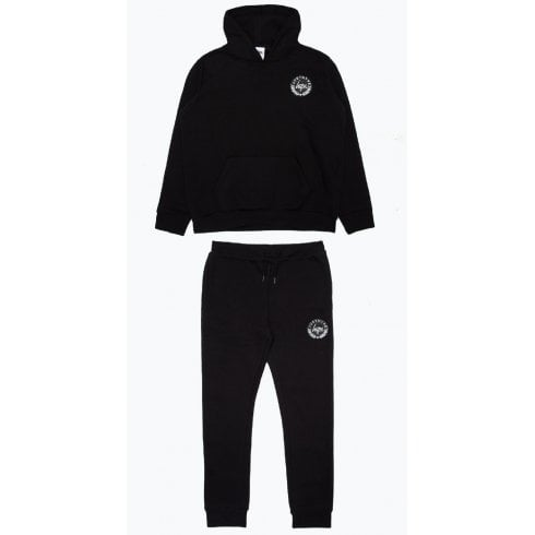 Hype Kids Unisex Black Crest Hoodie and Joggers Set